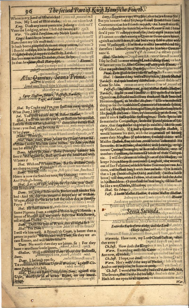 Image of First Folio (Brandeis University), page 416
