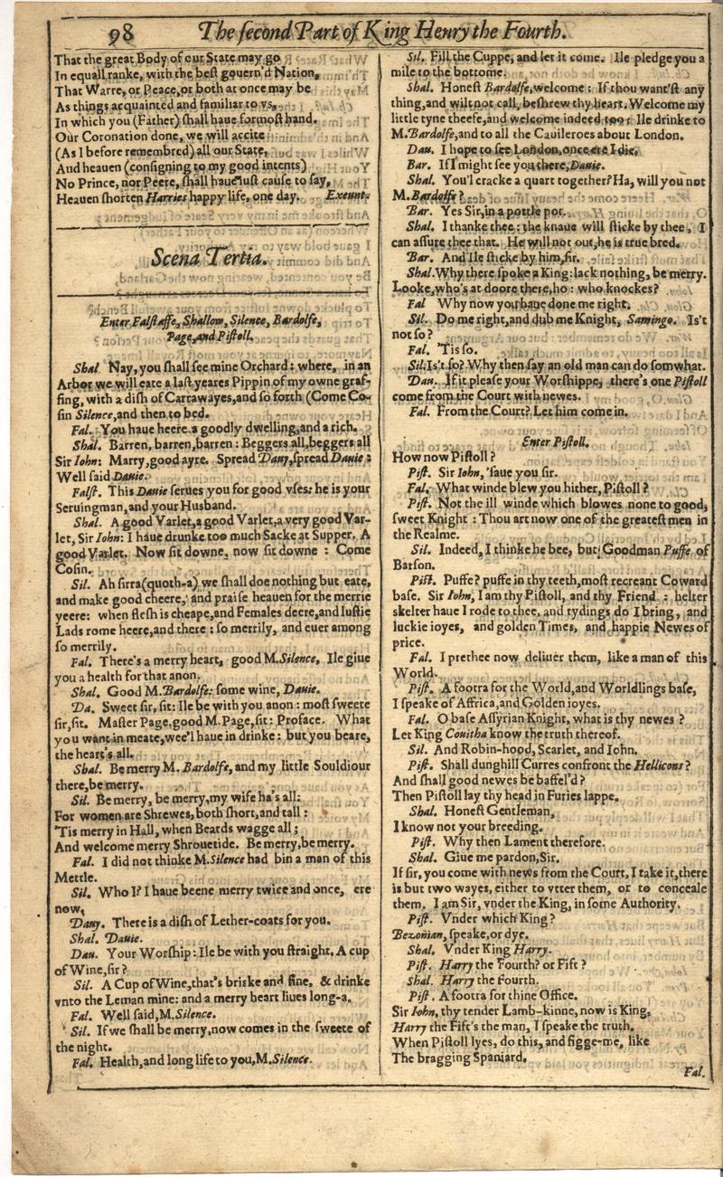 Image of First Folio (Brandeis University), page 418