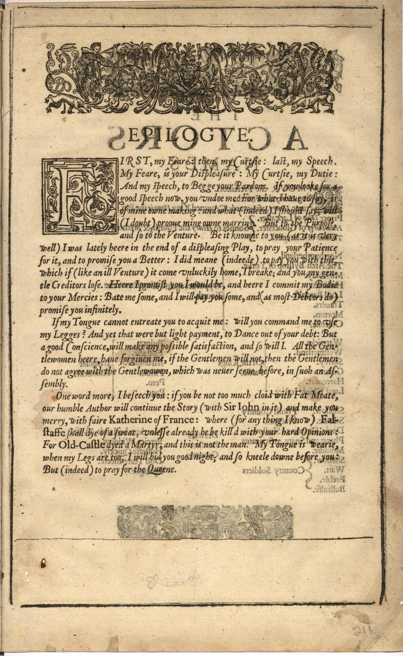 Image of First Folio (Brandeis University), page 421