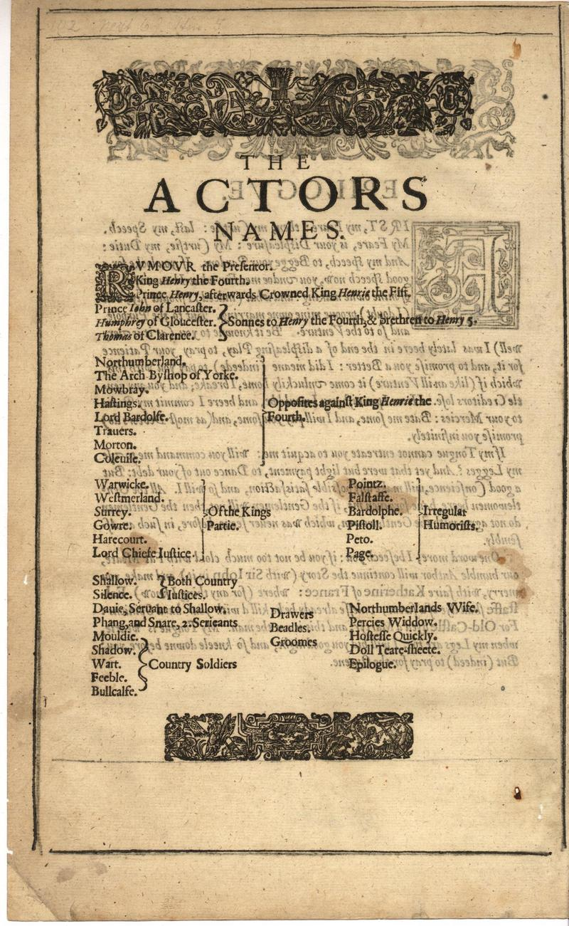 Image of First Folio (Brandeis University), page 422