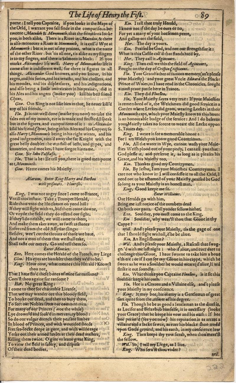 Image of First Folio (Brandeis University), page 443