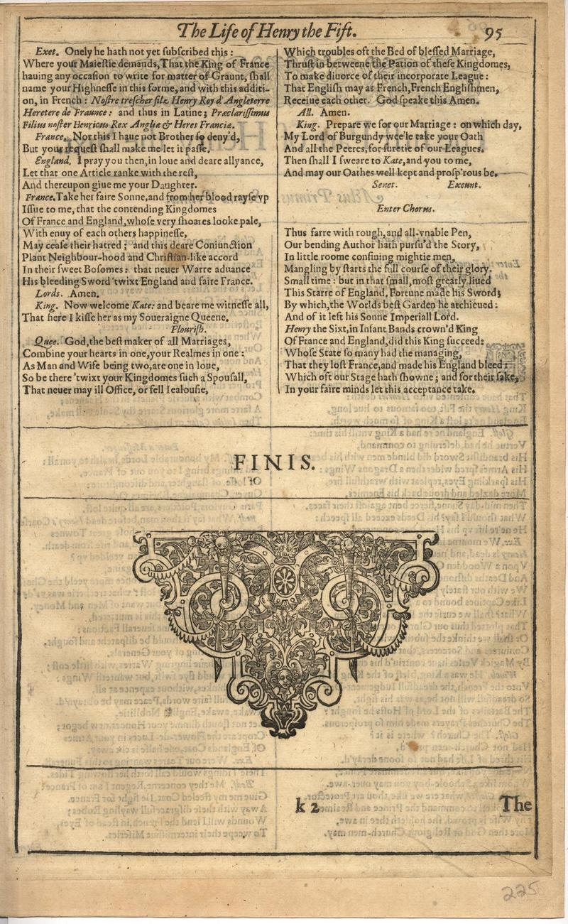 Image of First Folio (Brandeis University), page 449