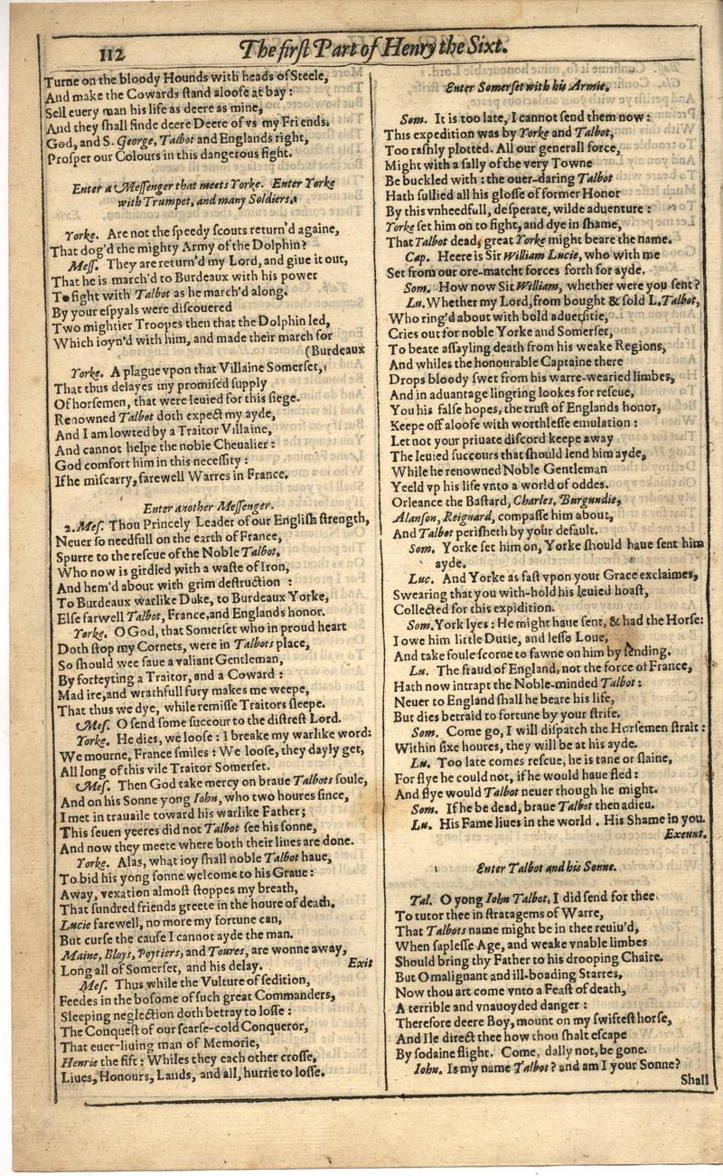 Image of First Folio (Brandeis University), page 466