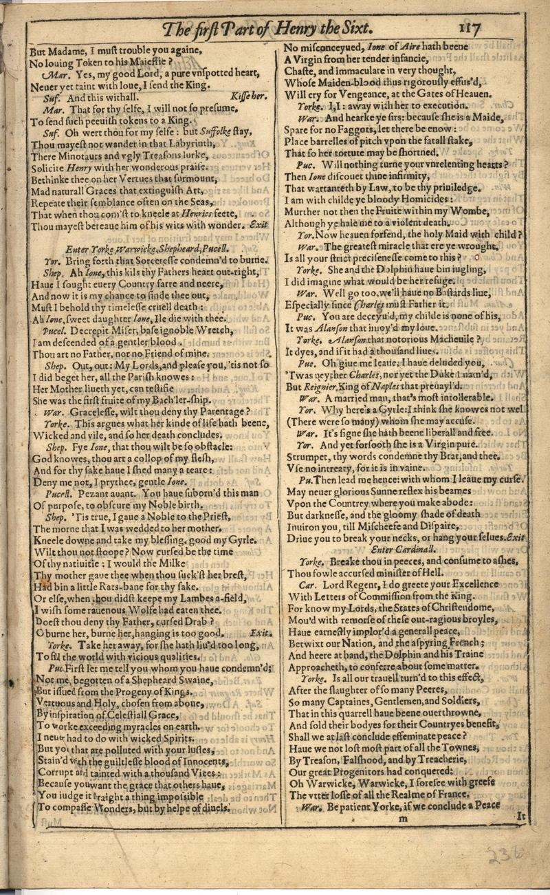 Image of First Folio (Brandeis University), page 471