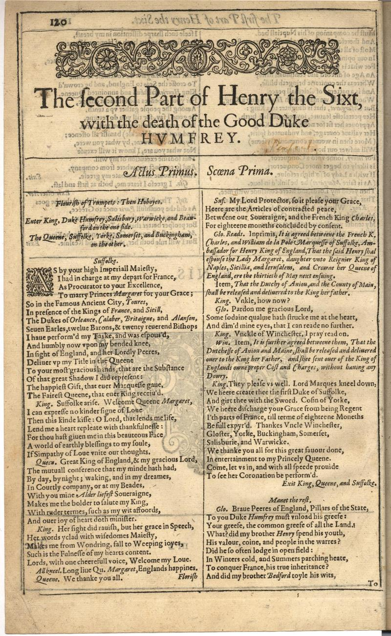 Image of First Folio (Brandeis University), page 474