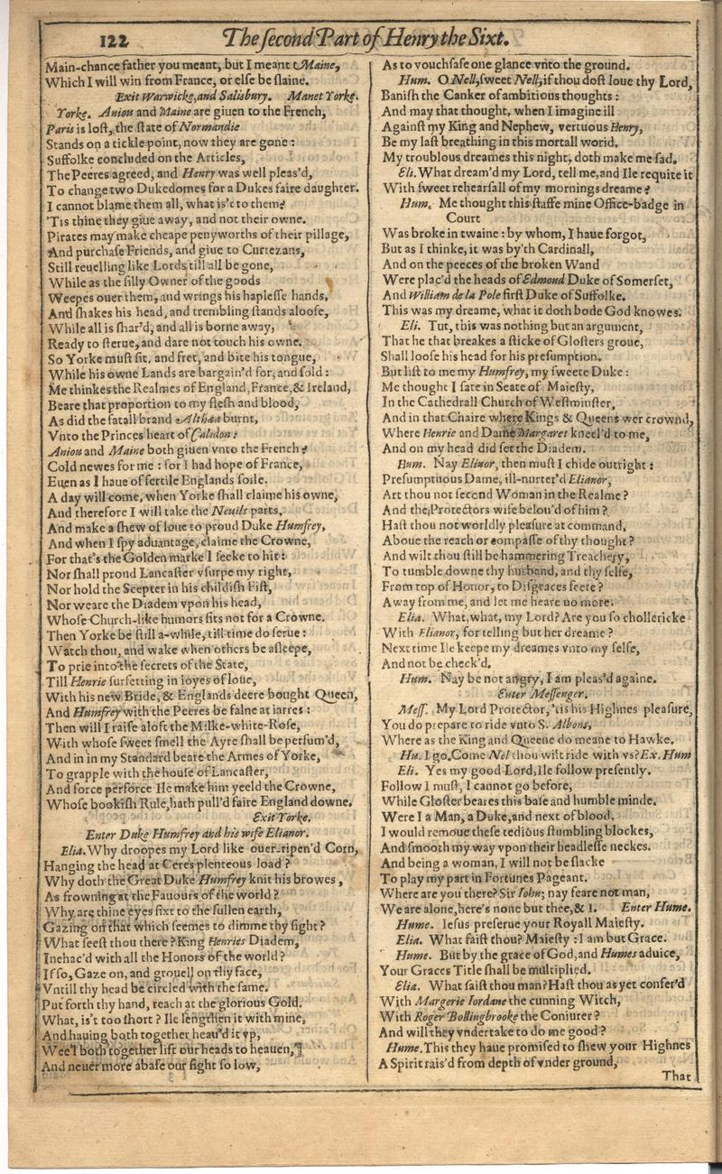 Image of First Folio (Brandeis University), page 476