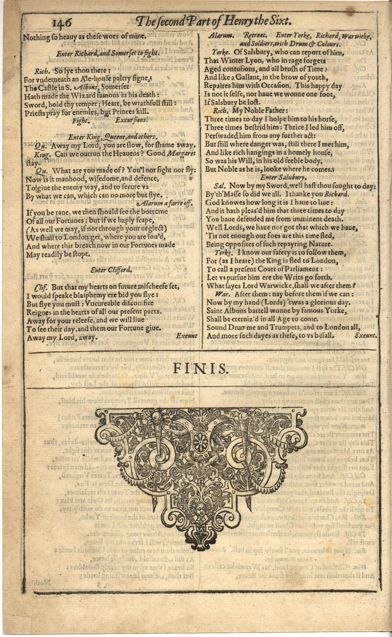 Image of First Folio (Brandeis University), page 500