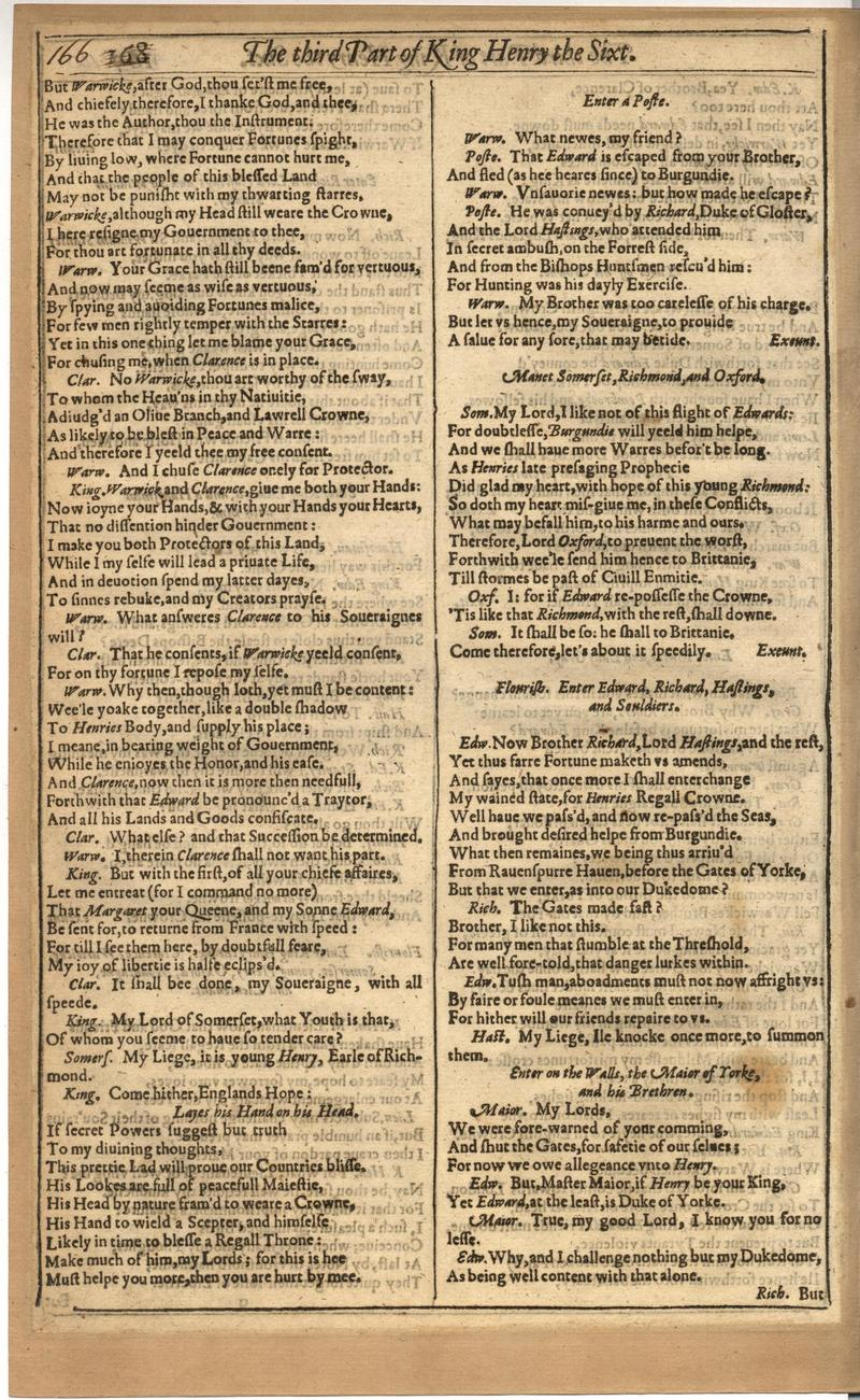 Image of First Folio (Brandeis University), page 520