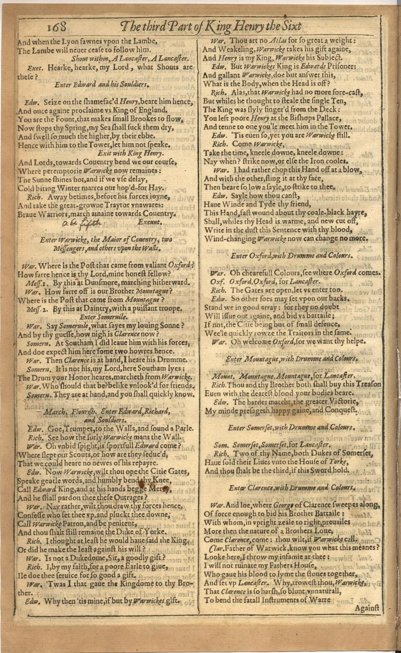 Image of First Folio (Brandeis University), page 522