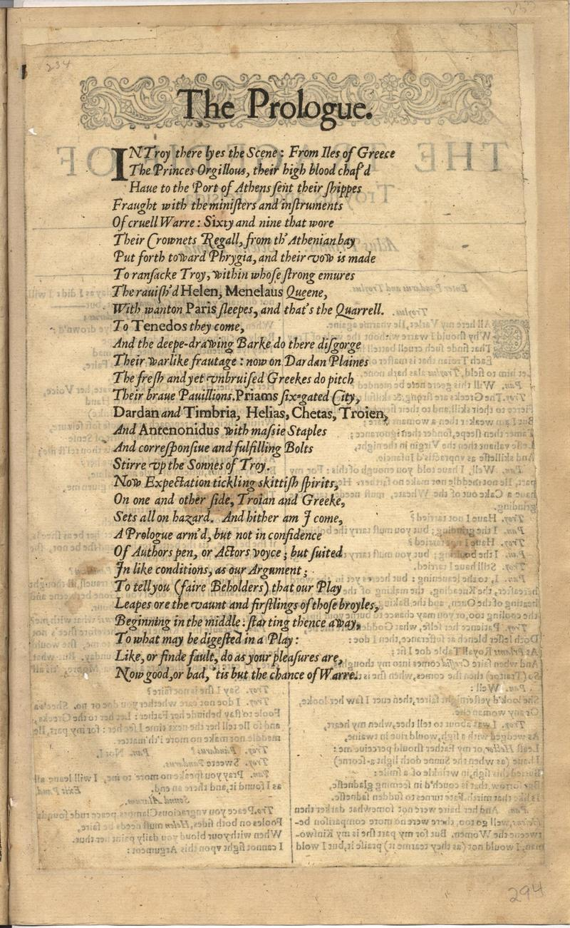Image of First Folio (Brandeis University), page 587