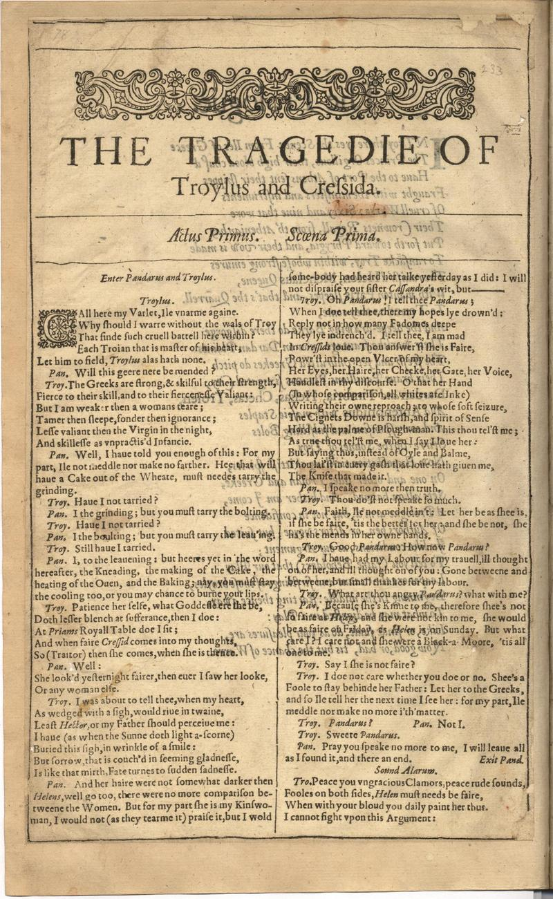 Image of First Folio (Brandeis University), page 588