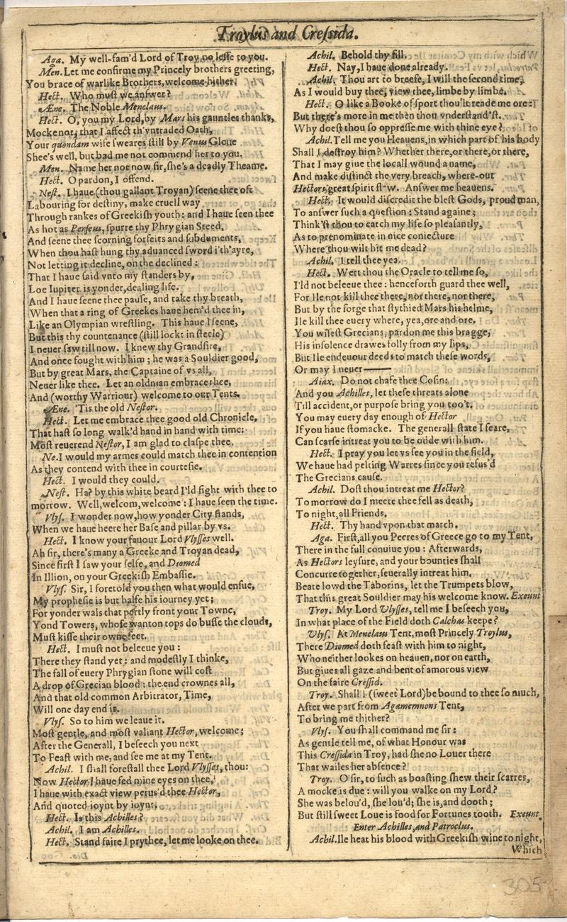 Image of First Folio (Brandeis University), page 609