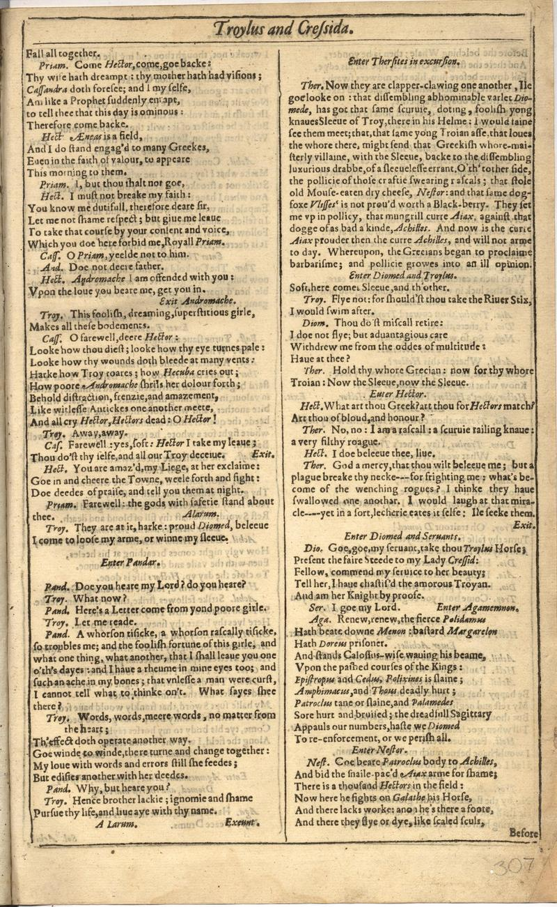 Image of First Folio (Brandeis University), page 613