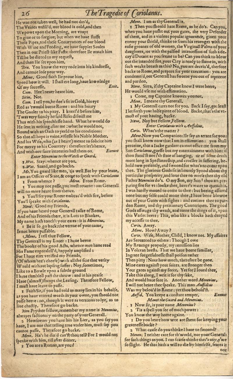 Image of First Folio (Brandeis University), page 642