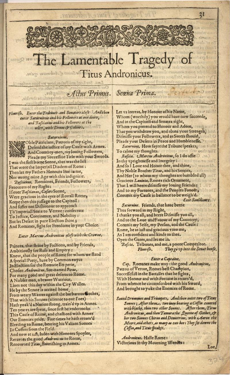 Image of First Folio (Brandeis University), page 647