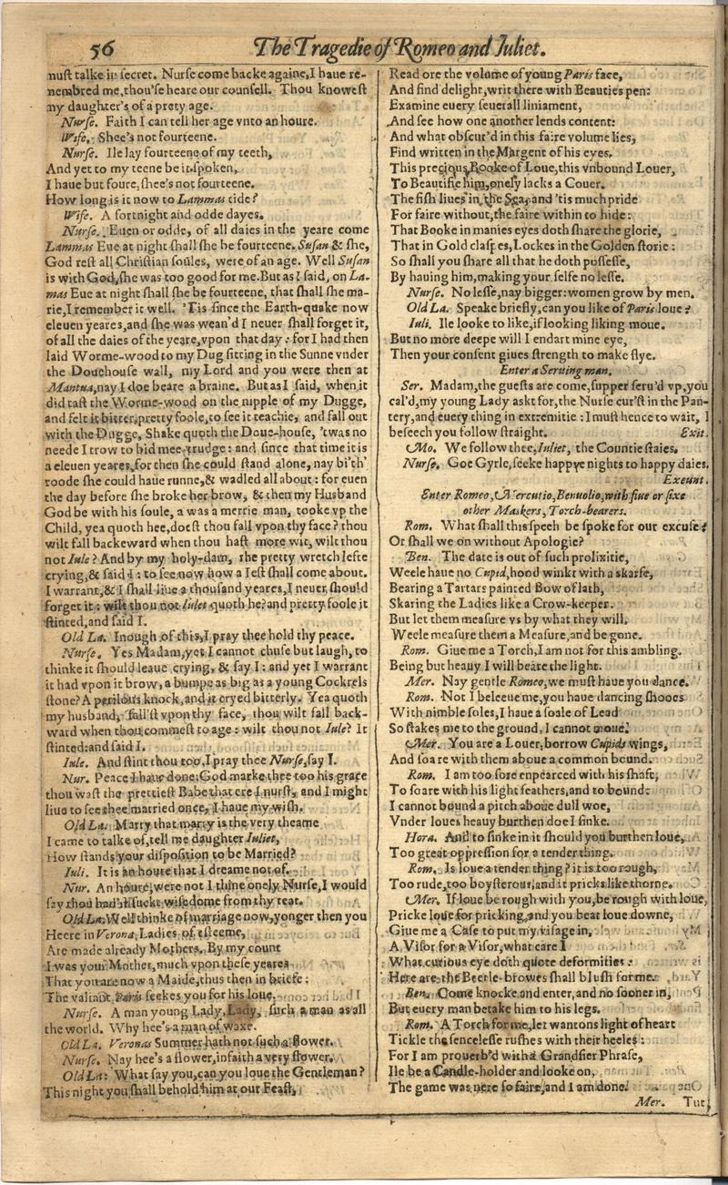 Image of First Folio (Brandeis University), page 672