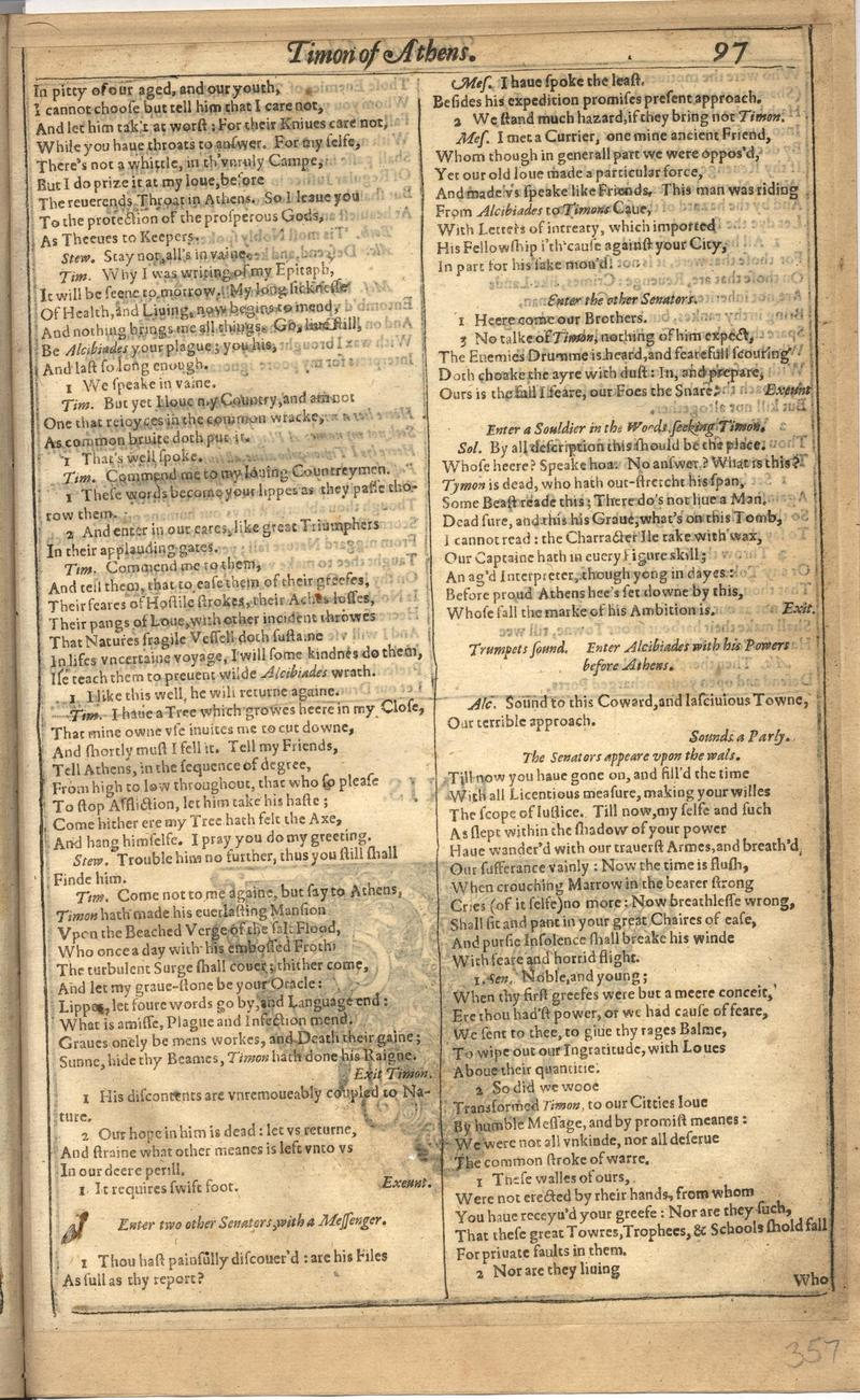 Image of First Folio (Brandeis University), page 713