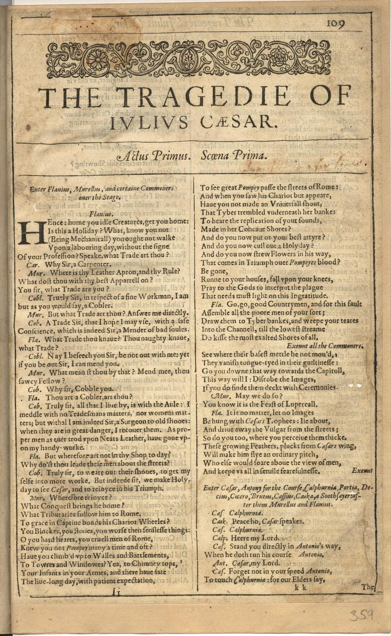 Image of First Folio (Brandeis University), page 717