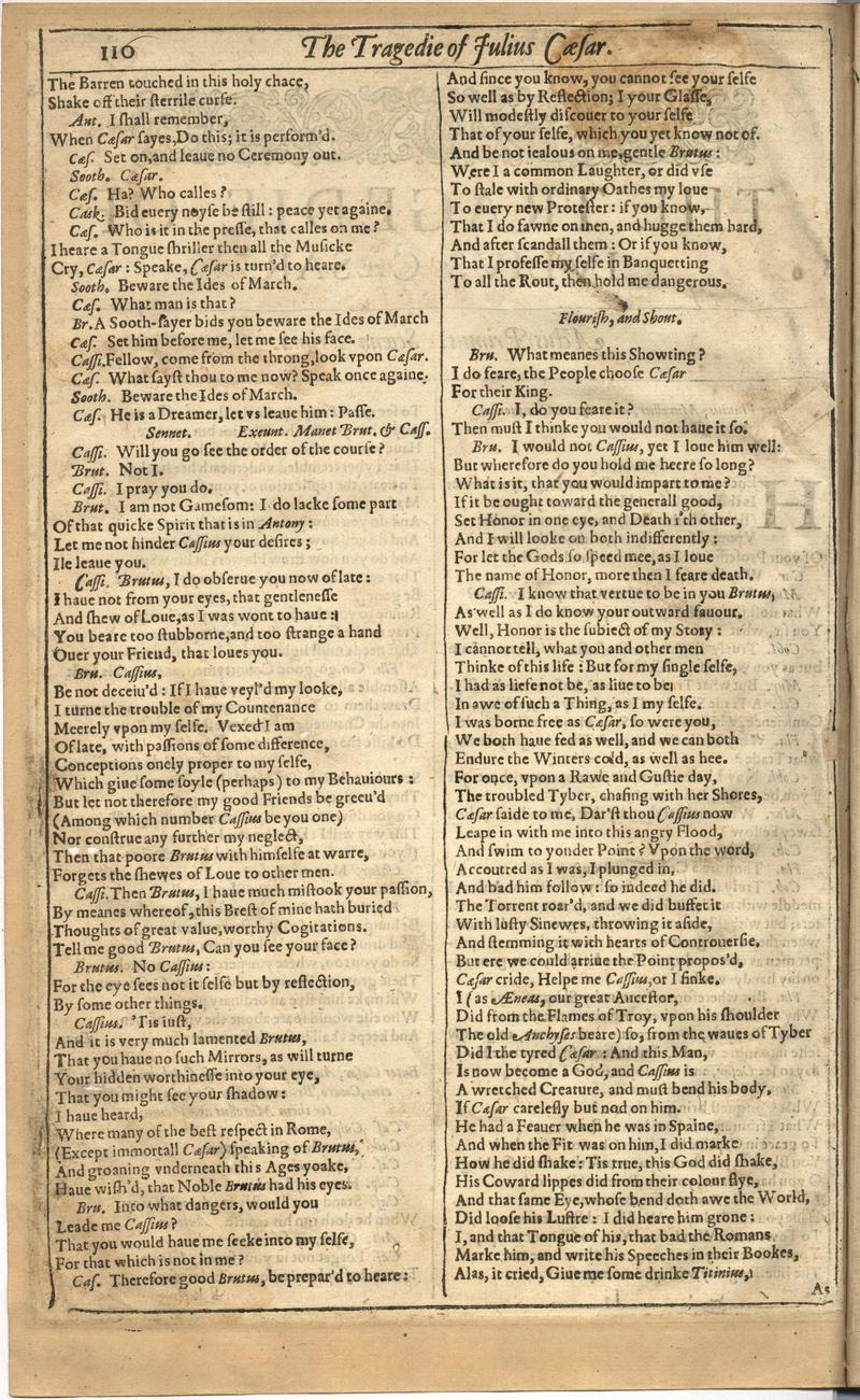 Image of First Folio (Brandeis University), page 718