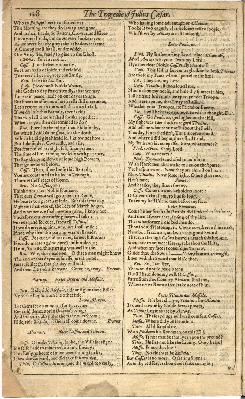 Image of First Folio (Brandeis University), page 736