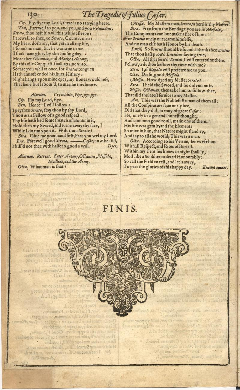 Image of First Folio (Brandeis University), page 738