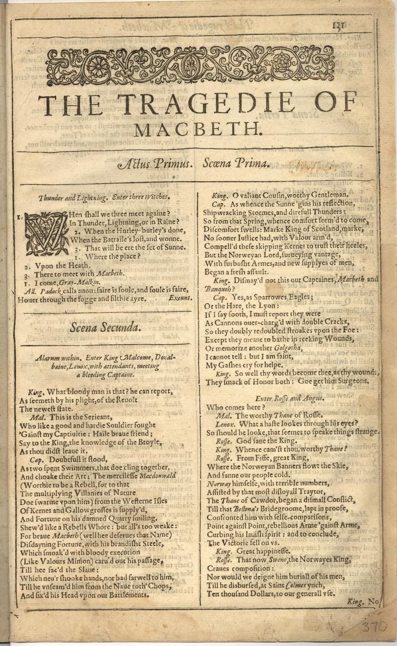Image of First Folio (Brandeis University), page 739