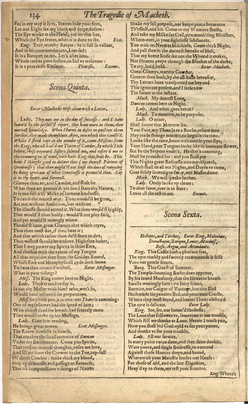 Image of First Folio (Brandeis University), page 742