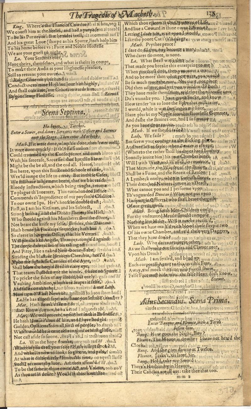 Image of First Folio (Brandeis University), page 743
