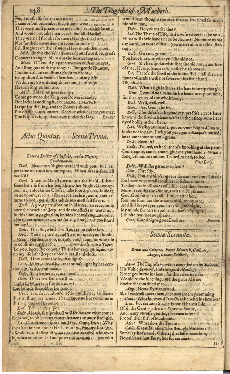 Image of First Folio (Brandeis University), page 756