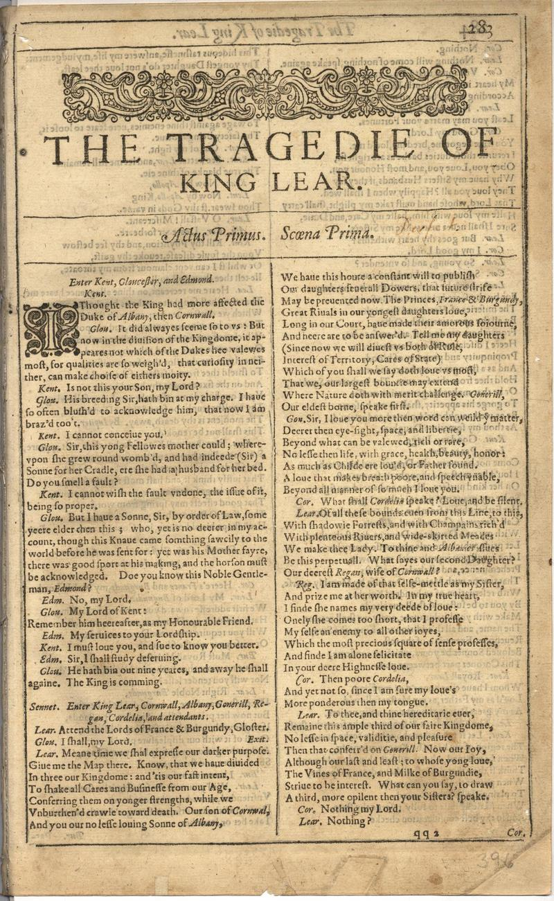 Image of First Folio (Brandeis University), page 791
