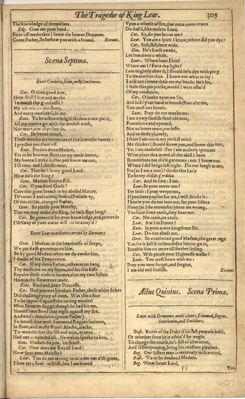 Image of First Folio (Brandeis University), page 813