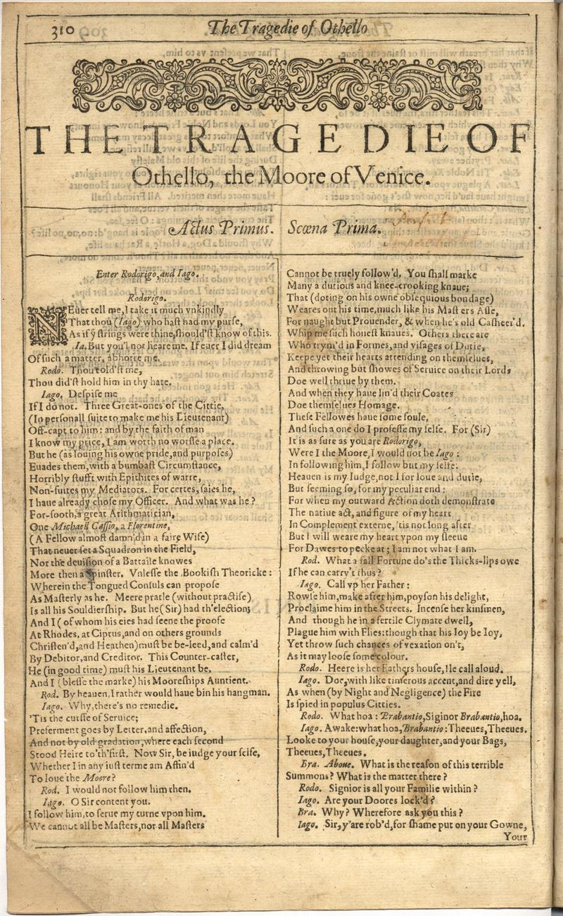 Image of First Folio (Brandeis University), page 818