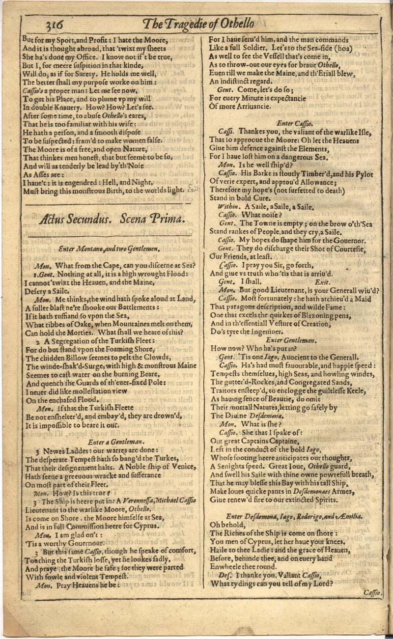 Image of First Folio (Brandeis University), page 824