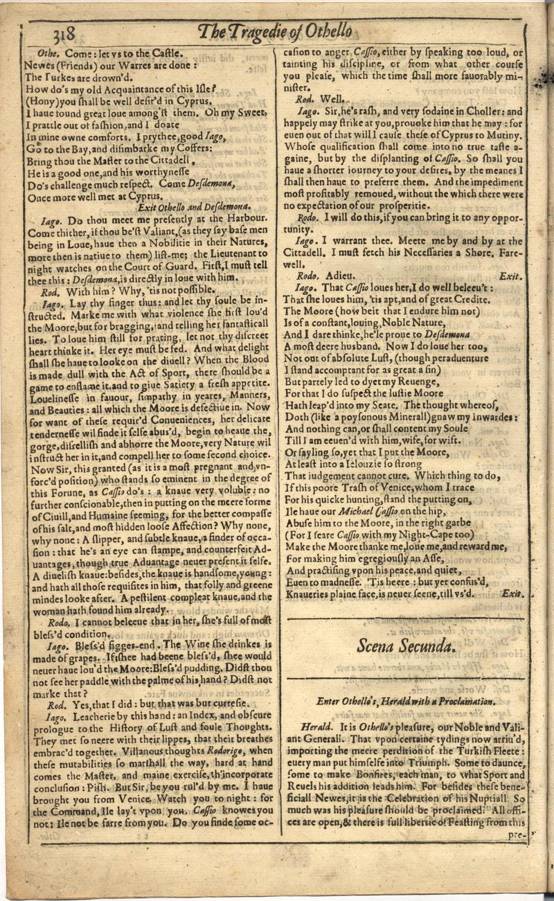 Image of First Folio (Brandeis University), page 826