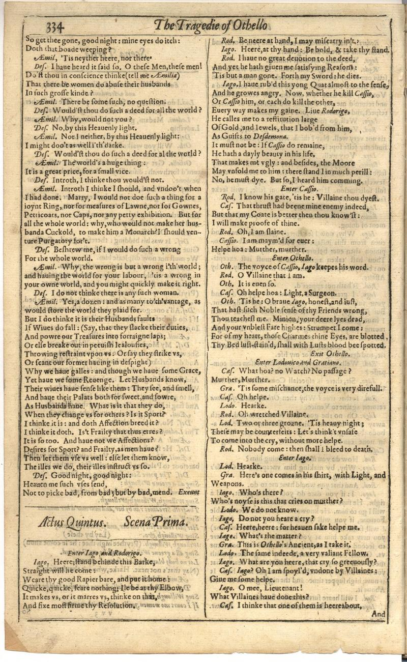 Image of First Folio (Brandeis University), page 842