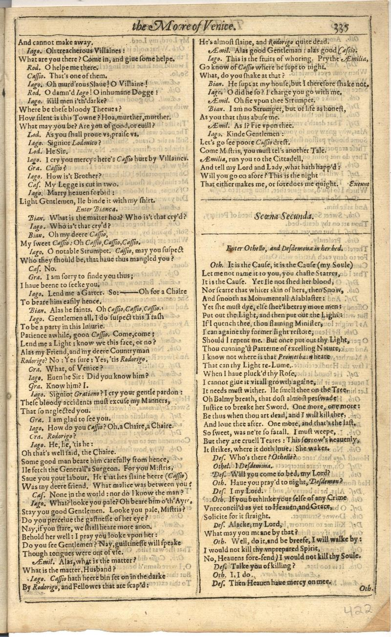 Image of First Folio (Brandeis University), page 843