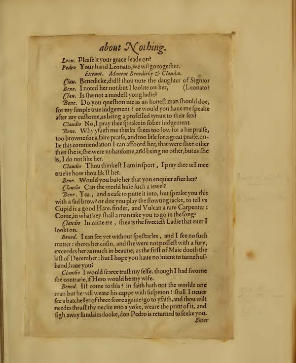Image of Much Ado About Nothing, Quarto 1 (Boston Public Library), page 7
