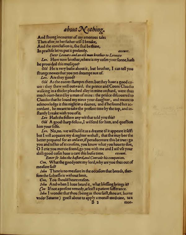 Image of Much Ado About Nothing, Quarto 1 (Boston Public Library), page 11