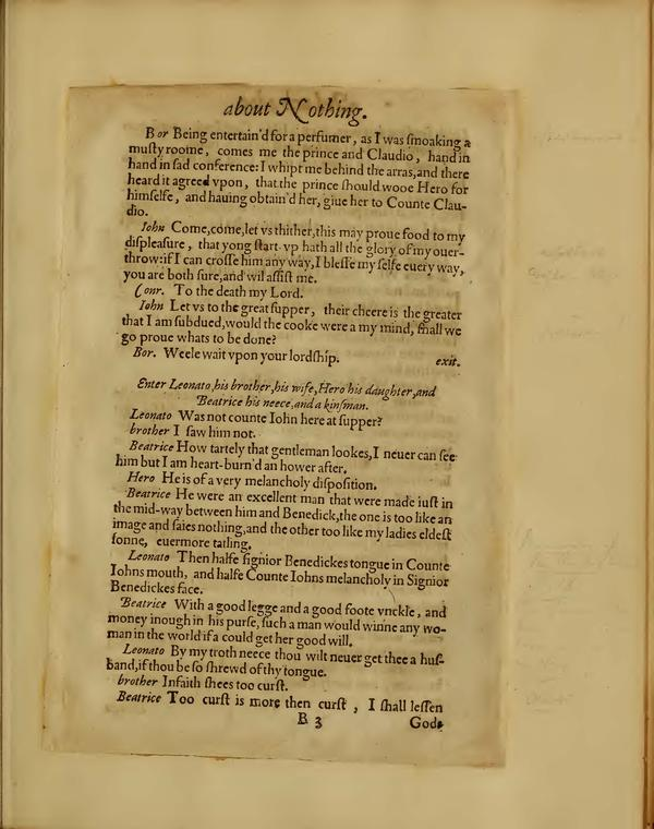 Image of Much Ado About Nothing, Quarto 1 (Boston Public Library), page 13