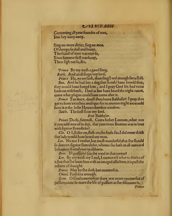 Image of Much Ado About Nothing, Quarto 1 (Boston Public Library), page 26