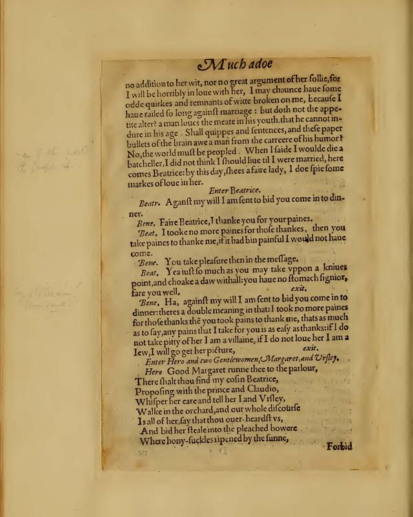 Image of Much Ado About Nothing, Quarto 1 (Boston Public Library), page 30