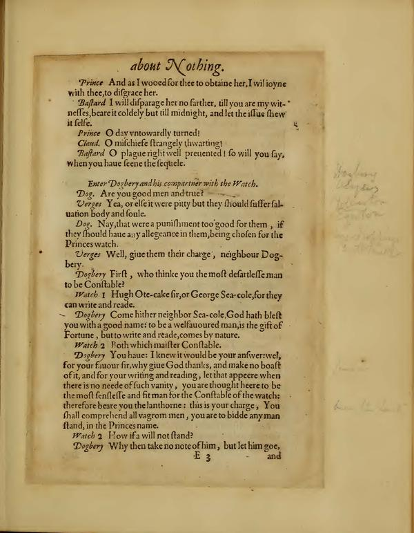 Image of Much Ado About Nothing, Quarto 1 (Boston Public Library), page 37