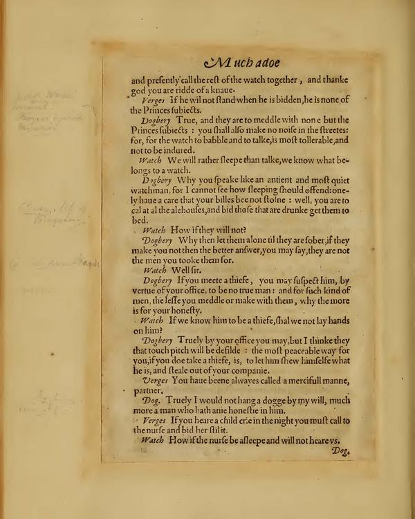 Image of Much Ado About Nothing, Quarto 1 (Boston Public Library), page 38