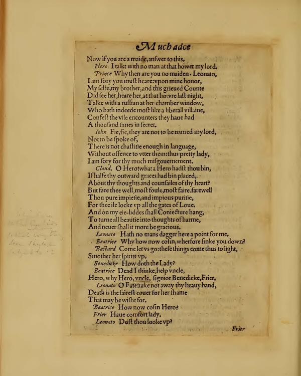 Image of Much Ado About Nothing, Quarto 1 (Boston Public Library), page 48
