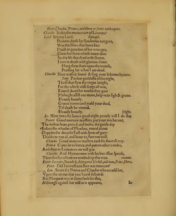 Image of Much Ado About Nothing, Quarto 1 (Boston Public Library), page 68