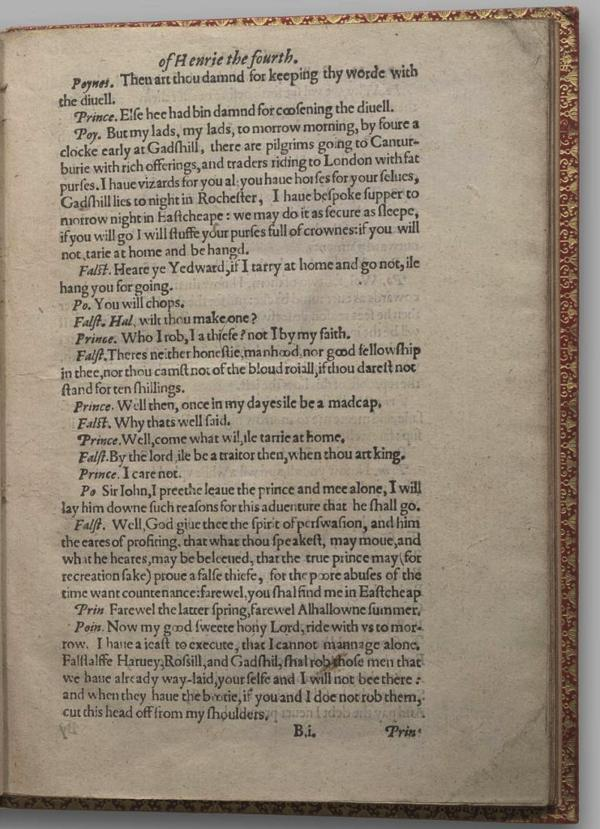 Image of Henry IV, Part I, Quarto 1 (Garrick), page 9