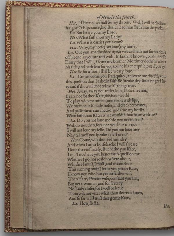Image of Henry IV, Part I, Quarto 1 (Garrick), page 26