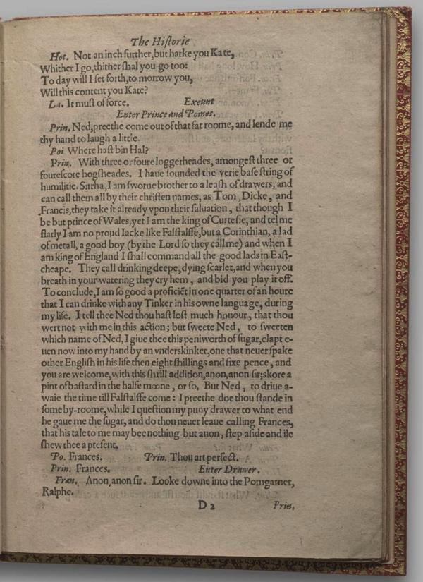 Image of Henry IV, Part I, Quarto 1 (Garrick), page 27