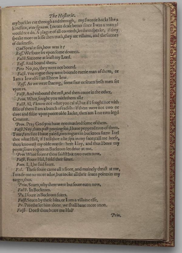 Image of Henry IV, Part I, Quarto 1 (Garrick), page 31
