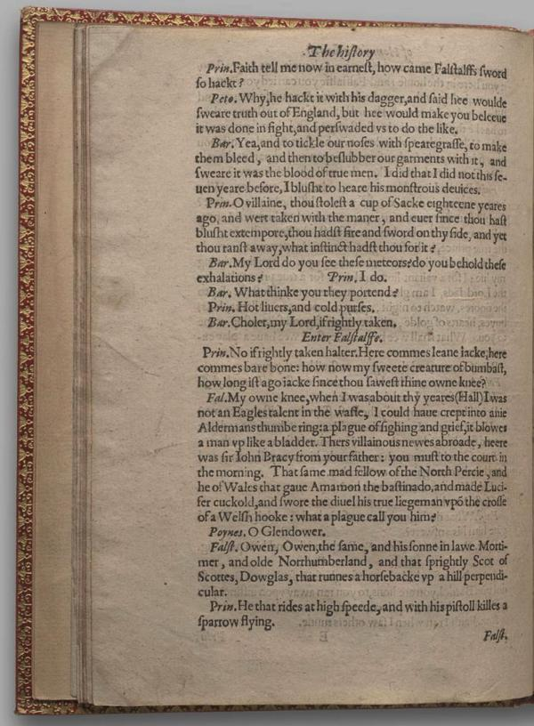 Image of Henry IV, Part I, Quarto 1 (Garrick), page 34